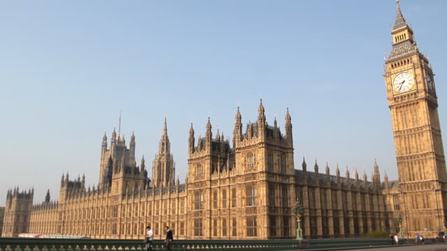 houses of parliament and big ben, london - image stock videos & royalty-free footage