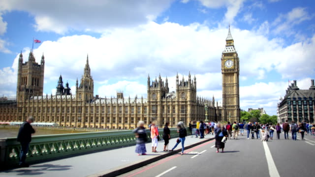 houses of parliament and big ben - westminster bridge stock videos and b-roll footage