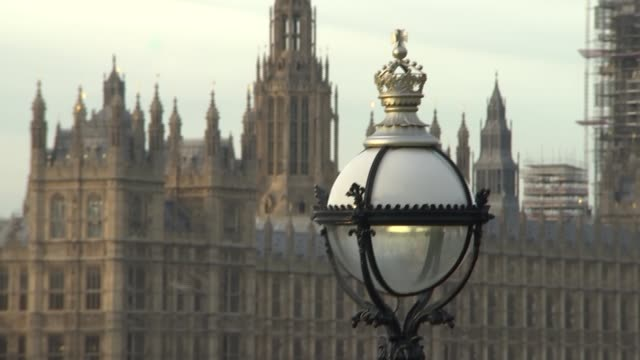 houses of parliament external gvs 'you are here' map and dolphin lamp standards england london westminster ext gvs houses of parliament from south of... - aquatisches lebewesen stock-videos und b-roll-filmmaterial