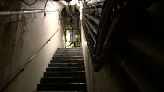 first images released of temporary home for house of commons england london westminster houses of parliament int water dripping down wall inside... - basement stock videos and b-roll footage