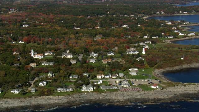 Häuser am Cape Elizabeth - Luftbild - Maine, Cumberland County, Vereinigte Staaten
