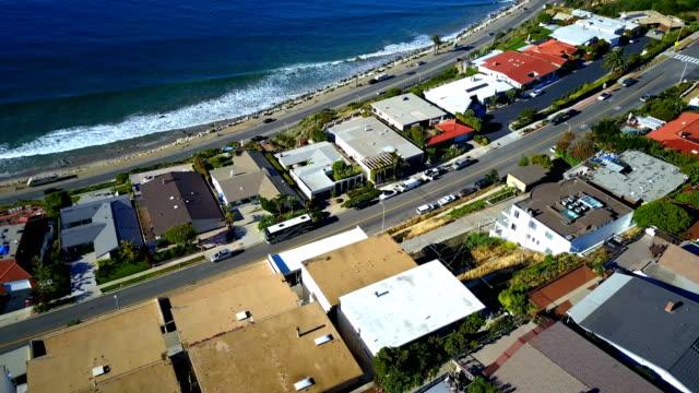 houses on coast - malibu stock videos and b-roll footage
