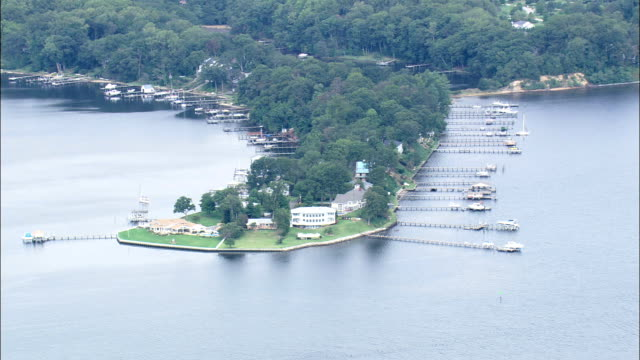 Houses On the River Severn  - Aerial View - Maryland, Anne Arundel County, United States