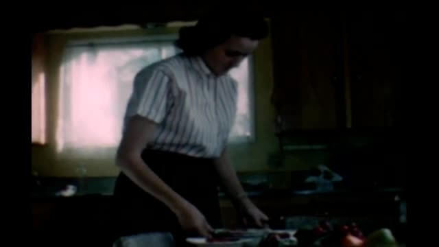 1965 housewife and banana cake - hair length stock videos and b-roll footage