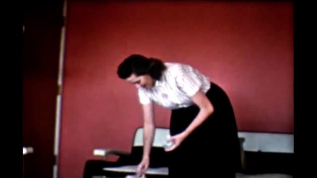 1965 housewife preparing table - blouse stock videos & royalty-free footage