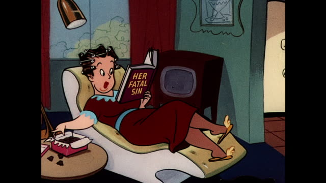 housewife relaxes while husband cleans floor - 1950 stock videos & royalty-free footage
