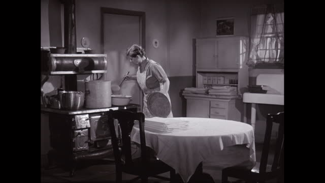 ms housewife working at home / united states - cucina domestica video stock e b–roll