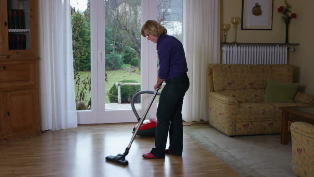 housework - vacuum cleaner stock videos & royalty-free footage