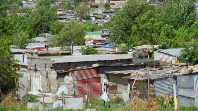 vidéos et rushes de ws housing and shacks in town / diepsloot, south africa - cahute
