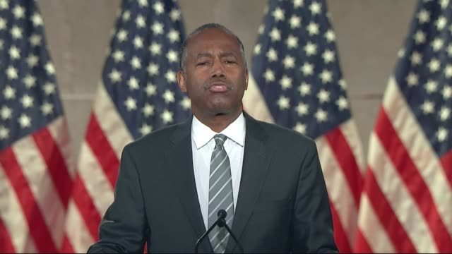housing and urban development secretary ben carson says in remarks to the republican national convention that president donald trump did not dabble... - rising tide stock videos & royalty-free footage