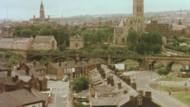1981 montage housing authority buying and repairing old, derelict homes under the 1980 housing act for resale / bolton, manchester, england - manchester england stock videos and b-roll footage