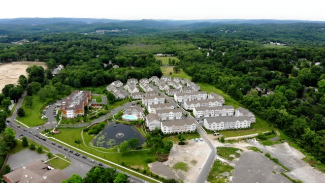 housing development in newtown, connectitcut - newtown connecticut stock videos & royalty-free footage
