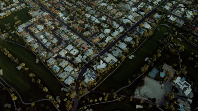 housing developments and golf courses - rancho mirage stock videos & royalty-free footage