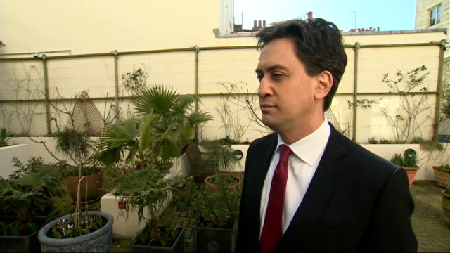ed miliband interview england brighton old market theatre incoming** ed miliband mp along ed miliband mp interview sot - ed miliband stock-videos und b-roll-filmmaterial