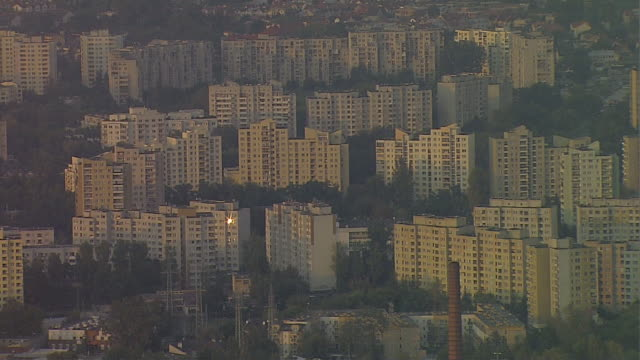 a housing estate of tower blocks. - poland stock videos and b-roll footage