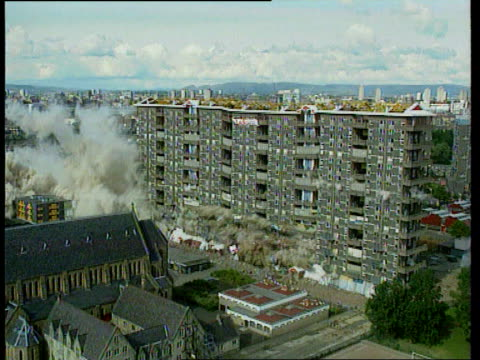 Government promises action LIB SCOTLAND Glasgow Flats being demolished with explosives LIB ENGLAND Newcastle Boarded up houses on council estate...