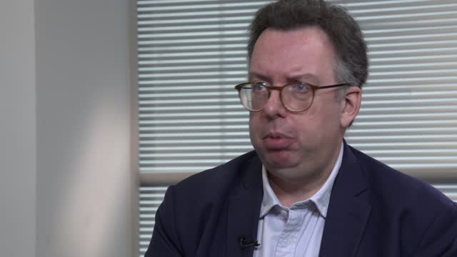 housing ombudsman releases damning report triggered by itv news investigation; england: london: int richard blakeway interview sot / cutaways with... - itv lunchtime news stock videos & royalty-free footage