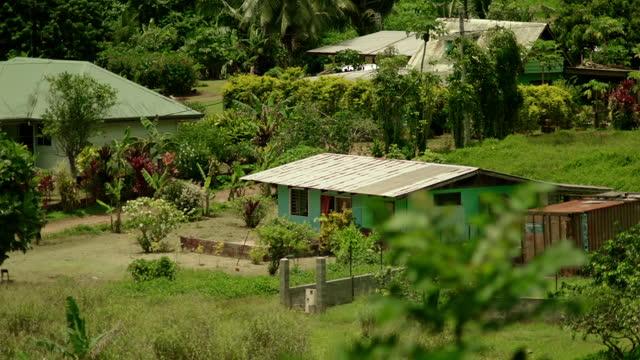 housing on tahiti, french polynesia - french polynesia stock videos & royalty-free footage