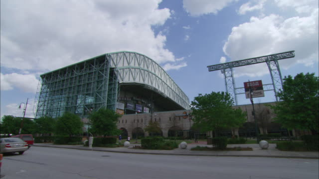 ws houston astros baseball stadium from the outside / houston, texas, united states - b roll stock videos & royalty-free footage