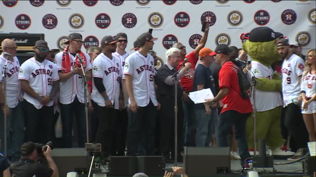 houston astros come out to celebrate the city's first world series title. - baseball world series stock videos & royalty-free footage