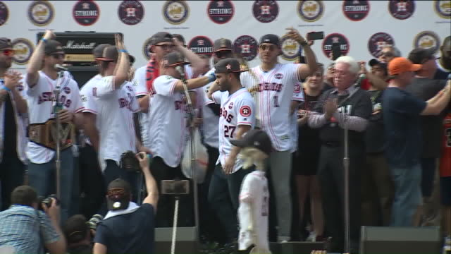 KIAH Houston Astros Come Out To Celebrate The City's First World Series Title
