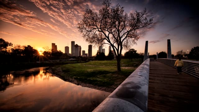 stockvideo's en b-roll-footage met houston bayou sunrise - texas