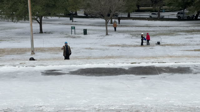 houston has not seen weather this frigid for more than 30 years. residents are being asked to keep off roadways and hunker down at home through at... - nicolas lisperguier stock videos & royalty-free footage