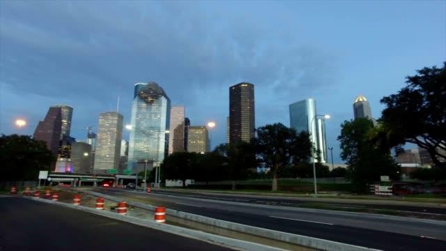 Houston Traffic at Sunset