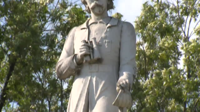 "vídeos y material grabado en eventos de stock de houston, tx, u.s. - statue of confederate commander richard ""dick"" dowling in hermann park, the day before its removal. houston mayor sylvester... - monumento"