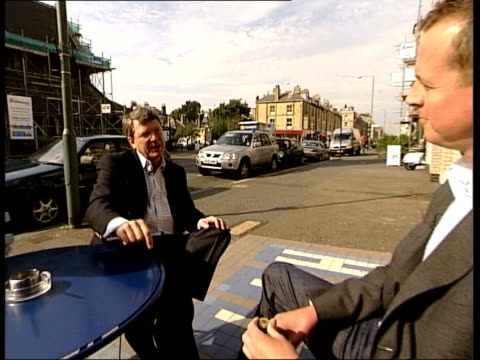 int lynton crosby seated in taxi as along from taxi along street lynton crosby interview sot the conservative party wasn't guilty of dogma at the... - middle of the road stock videos & royalty-free footage