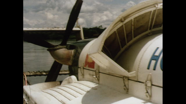 montage hovercraft on the orinoco river in the amazon - hovercraft stock videos & royalty-free footage