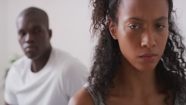how are we going to salvage our marriage? - black couple arguing stock videos & royalty-free footage