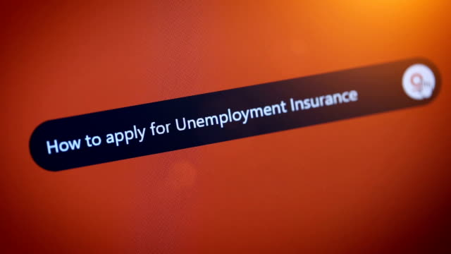 how to apply for unemployment insurance - unemployment stock videos & royalty-free footage