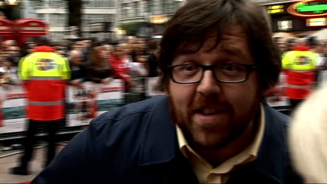 'how to lose friends and alienate people' london premiere nick frost interview discusses his next project with simon pegg - nick frost actor stock videos & royalty-free footage