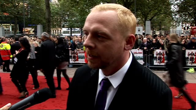 'How to Lose Friends and Alienate People' London premiere Simon Pegg red carpet interview SOT discusses playing journalist Toby Young in film 'How to...