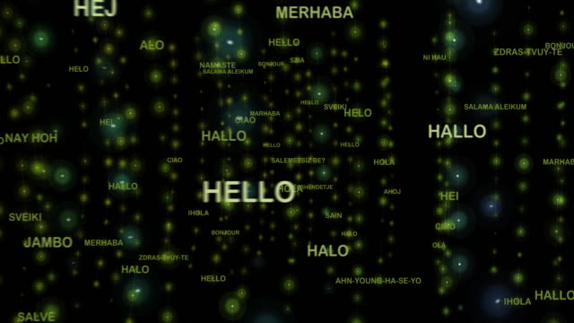 """stockvideo's en b-roll-footage met hoe om te zeggen """"hallo"""" in verschillende talen - vertaling"""