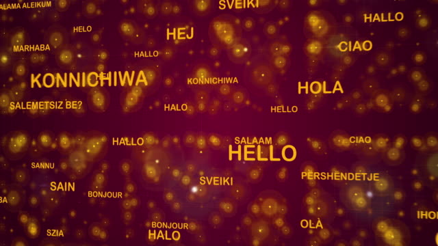 how to say hello in different languages - variation stock videos & royalty-free footage