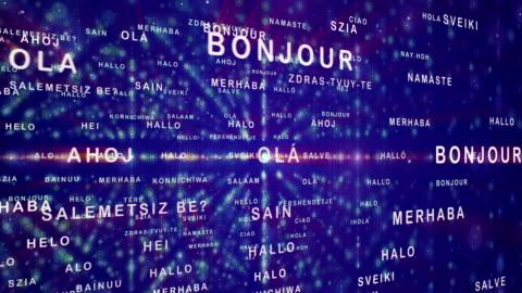 vídeos y material grabado en eventos de stock de cómo decir hola en diferentes idiomas - variación