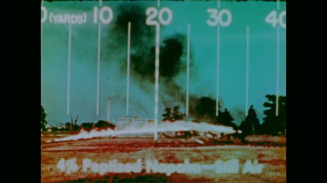 vídeos y material grabado en eventos de stock de how to use a flame thrower - vehículo acorazado