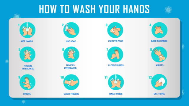 how to wash your hands - instructions stock videos & royalty-free footage