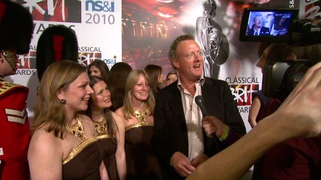 howard goodall and enchanted voices at the classical brit award nominations 2010 at london england - howard goodall stock videos and b-roll footage