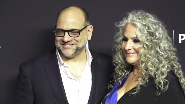 howard j. morris and marta kauffman at the paley center for media los angeles 2019 panel presentation of 'grace and frankie' at the dolby theatre in... - paley center for media los angeles stock videos & royalty-free footage