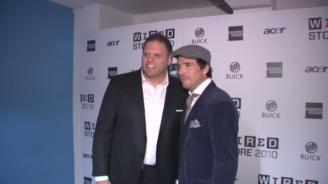 howard mittman and matthew settle at the wired celebrates the 2010 wired store experiential gallery opening in noho at new york ny - l'uomo e la macchina video stock e b–roll