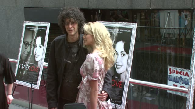 howard stern and beth ostrosky at the new york premiere of the award-winning documentary 'crazy love' at the beekman 1&2 theater in new york, new... - ドキュメンタリー映画点の映像素材/bロール
