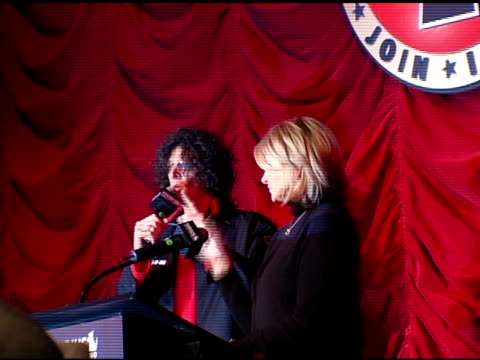 howard stern and martha stewart at the howard stern last day live event arrivals and inside at hard rock cafe in new york new york on december 16 2005 - hard rock cafe stock videos & royalty-free footage