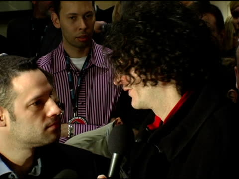 howard stern at the howard stern last day live event arrivals and inside at hard rock cafe in new york, new york on december 16, 2005. - hard rock cafe stock videos & royalty-free footage