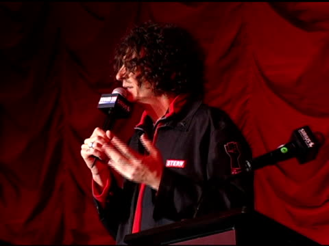 howard stern at the howard stern last day live event arrivals and inside at hard rock cafe in new york new york on december 16 2005 - hard rock cafe stock videos & royalty-free footage