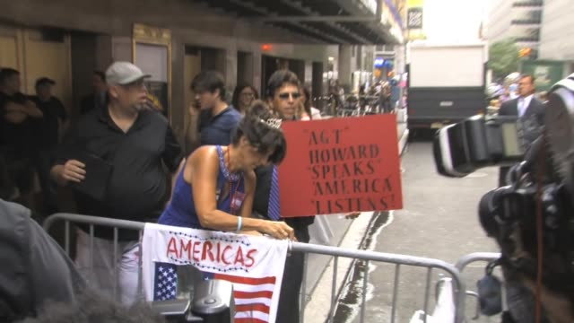 Howard Stern Fans outside of America's Got Talent at Celebrity Sightings in New York Howard Stern Fans outside of America's Got Talent on July 24...