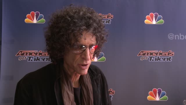 INTERVIEW Howard Stern on his judging strategy what his favorite thing is about AGT at 'America's Got Talent' Red Carpet at the Dolby Theater on...