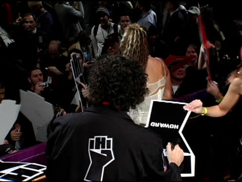 howard stern signing autographs for fans at the howard stern last day live event arrivals and inside at hard rock cafe in new york new york on... - hard rock cafe stock videos & royalty-free footage